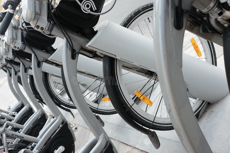 Χώρος στάθμευσης για τα ποδήλατα στοκ φωτογραφίες