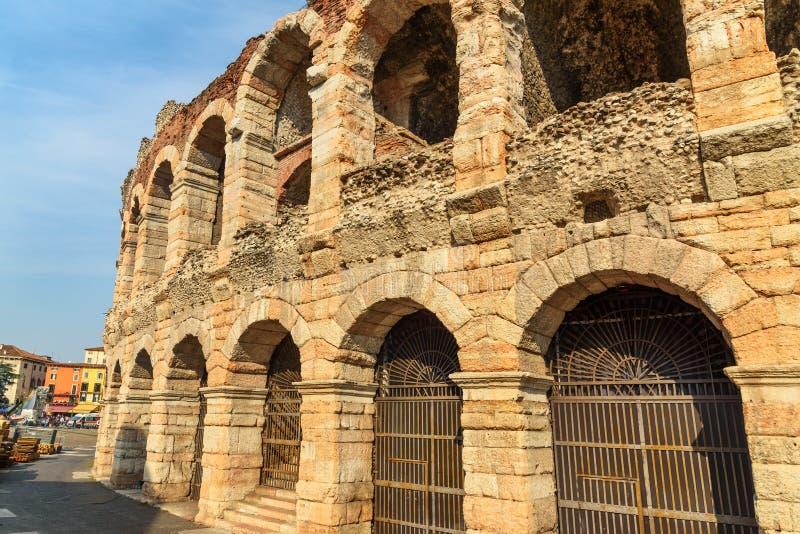 Χώρος της Βερόνα, ρωμαϊκό αμφιθέατρο στο στηθόδεσμο πλατειών Βερόνα r στοκ εικόνα