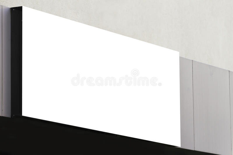 Χλεύη επάνω Κενός πίνακας διαφημίσεων υπαίθρια, υπαίθρια διαφήμιση στον τοίχο ενός τοίχου οικοδόμησης στοκ φωτογραφία