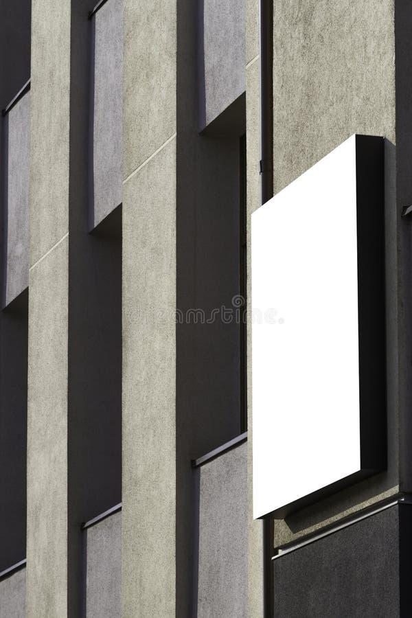 Χλεύη επάνω Κενός πίνακας διαφημίσεων υπαίθρια, υπαίθρια διαφήμιση στον τοίχο ενός τοίχου οικοδόμησης στοκ εικόνες με δικαίωμα ελεύθερης χρήσης