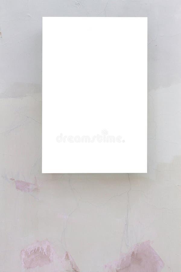 Χλεύη επάνω Κενός πίνακας διαφημίσεων υπαίθρια, υπαίθρια διαφήμιση, πίνακας δημόσια πληροφορίας στον τοίχο στοκ φωτογραφία με δικαίωμα ελεύθερης χρήσης