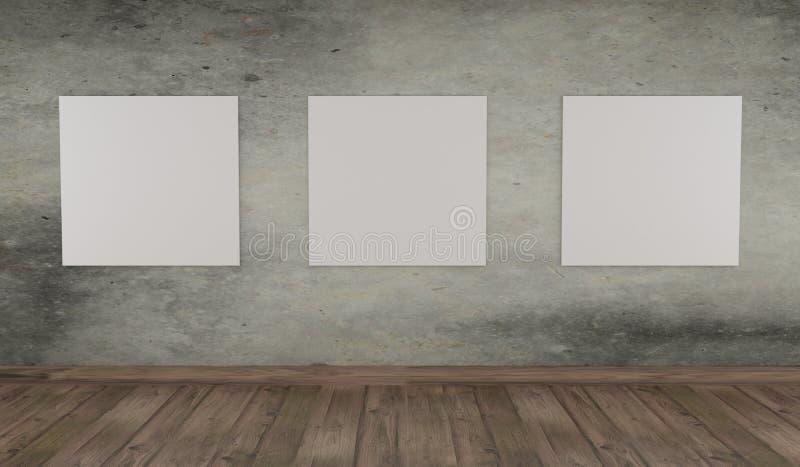 Χλεύη επάνω στην αφίσα σε έναν συμπαγή τοίχο διανυσματική απεικόνιση