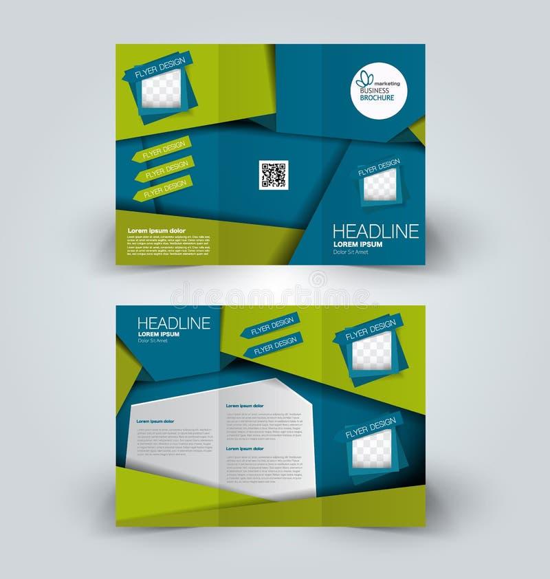 Χλεύη φυλλάδιων επάνω στο πρότυπο σχεδίου για την επιχείρηση, εκπαίδευση, διαφήμιση απεικόνιση αποθεμάτων