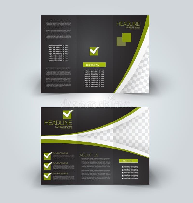 Χλεύη φυλλάδιων επάνω στο πρότυπο σχεδίου για την επιχείρηση, εκπαίδευση, διαφήμιση ελεύθερη απεικόνιση δικαιώματος