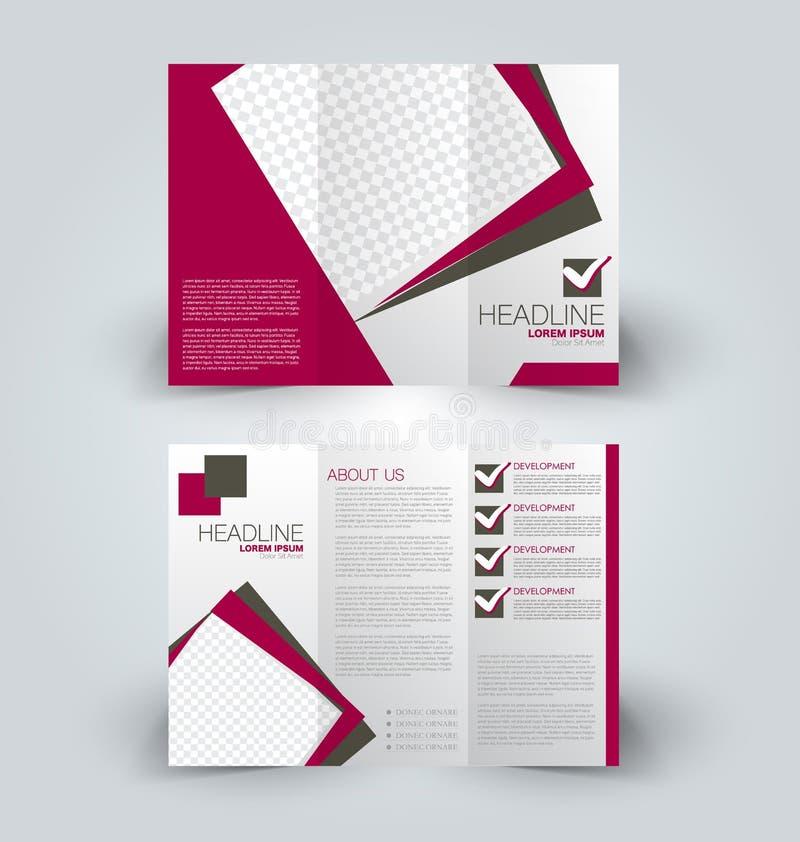 Χλεύη φυλλάδιων επάνω στο πρότυπο σχεδίου για την επιχείρηση, εκπαίδευση, διαφήμιση διανυσματική απεικόνιση