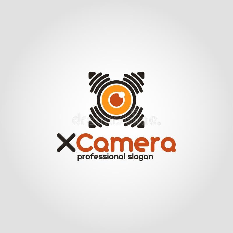 Χ κάμερα - λογότυπο καμερών κηφήνων κατασκόπων απεικόνιση αποθεμάτων