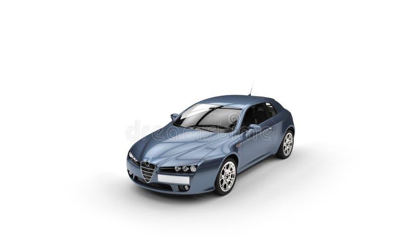 Χλωμιάστε - μπλε αυτοκίνητο απεικόνιση αποθεμάτων