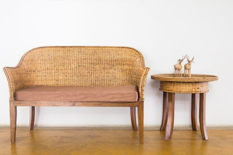 Ψάθινη καρέκλα στοκ εικόνες