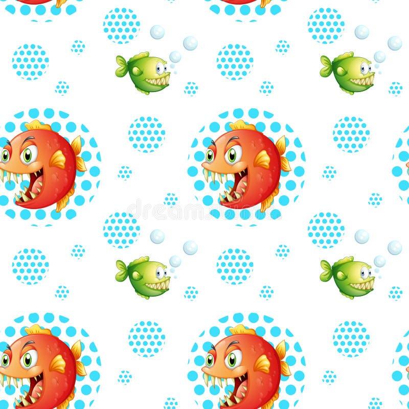 ψάρια άνευ ραφής διανυσματική απεικόνιση