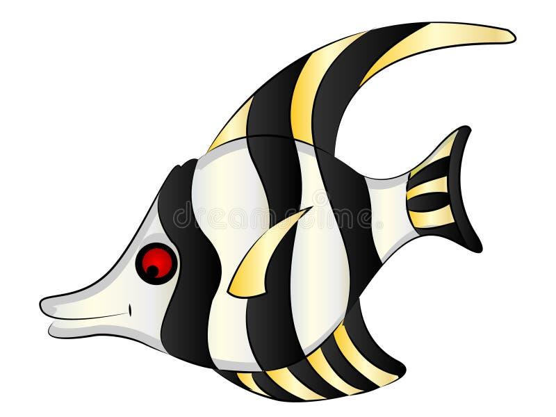 Ψάρια αγγέλου ενυδρείων κινούμενων σχεδίων διανυσματική απεικόνιση