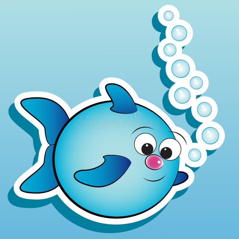 ψάρια αεροφυσαλίδων ελεύθερη απεικόνιση δικαιώματος