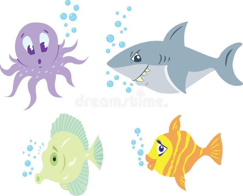 ψάρια αστεία διανυσματική απεικόνιση