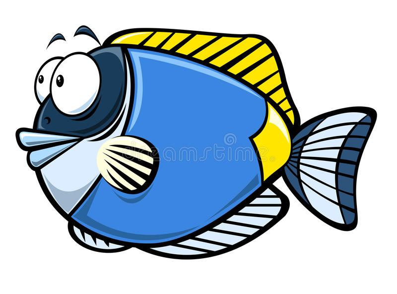 ψάρια κινούμενων σχεδίων ελεύθερη απεικόνιση δικαιώματος