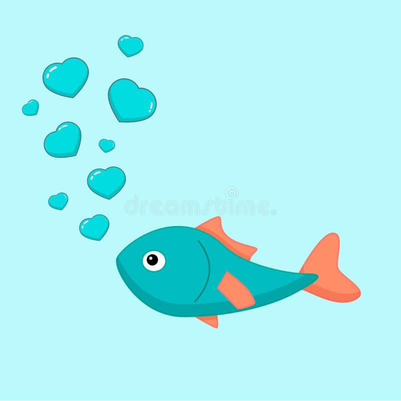 Ψάρια με τις φυσαλίδες στοκ εικόνες