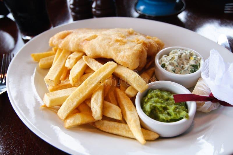 ψάρια ν τσιπ στοκ φωτογραφία με δικαίωμα ελεύθερης χρήσης