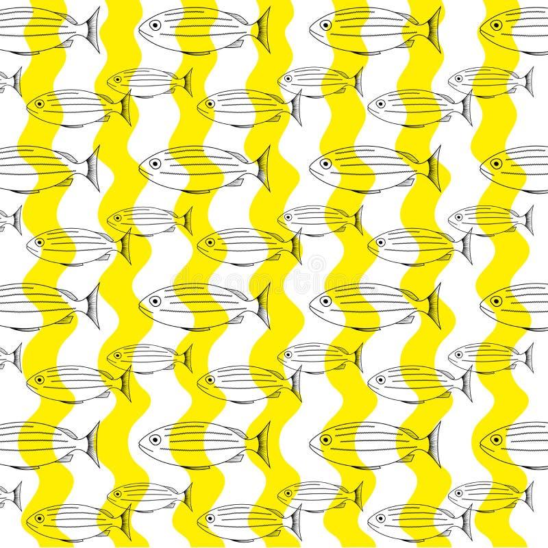 Ψάρια περιλήψεων υποβάθρου - διάνυσμα διανυσματική απεικόνιση