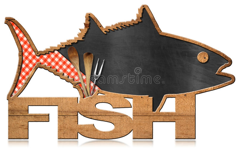 Ψάρια πινάκων που διαμορφώνονται - επιλογές ψαριών απεικόνιση αποθεμάτων