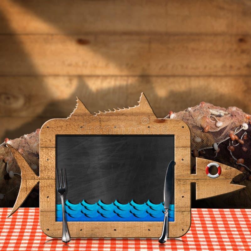 Ψάρια πινάκων που διαμορφώνονται με τα δίχτυα του ψαρέματος διανυσματική απεικόνιση