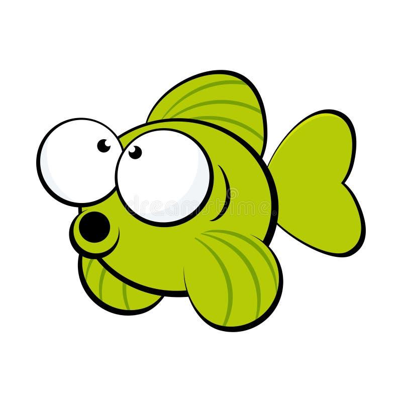 ψάρια πράσινα διανυσματική απεικόνιση