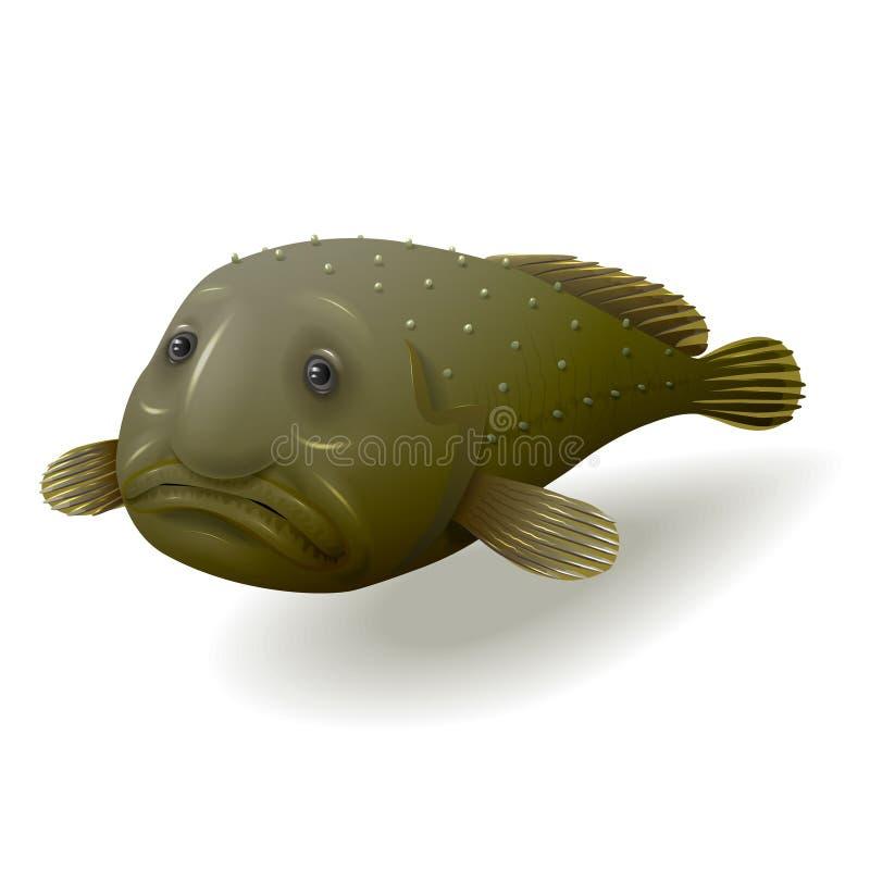 Ψάρια σταγόνων που απομονώνονται διανυσματική απεικόνιση