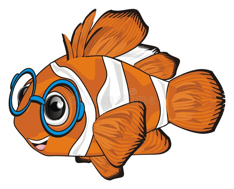 Ψάρια στα γυαλιά ελεύθερη απεικόνιση δικαιώματος