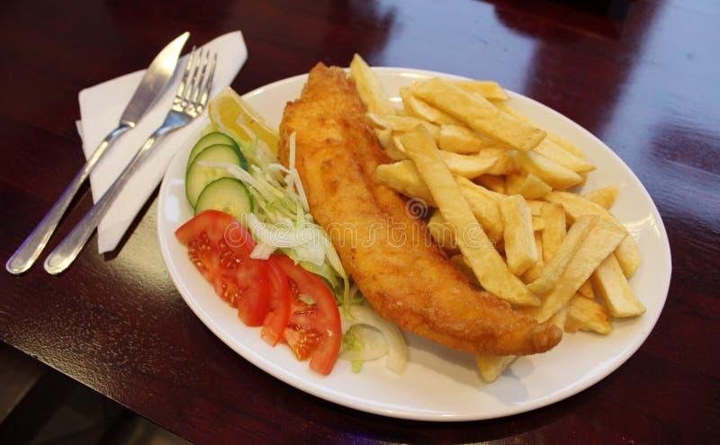 ψάρια τσιπ στοκ φωτογραφίες