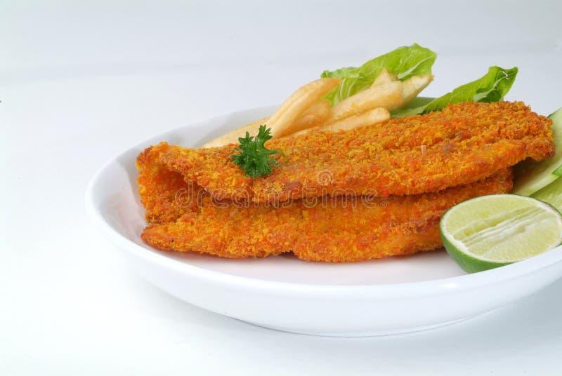 ψάρια τσιπ στοκ φωτογραφία