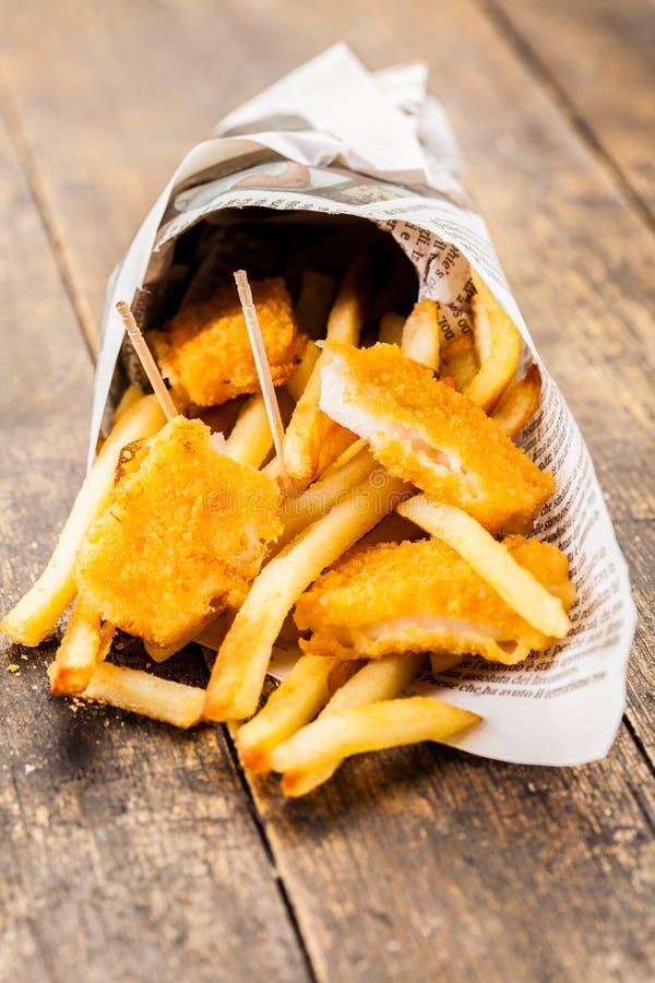 ψάρια τσιπ στοκ εικόνες με δικαίωμα ελεύθερης χρήσης