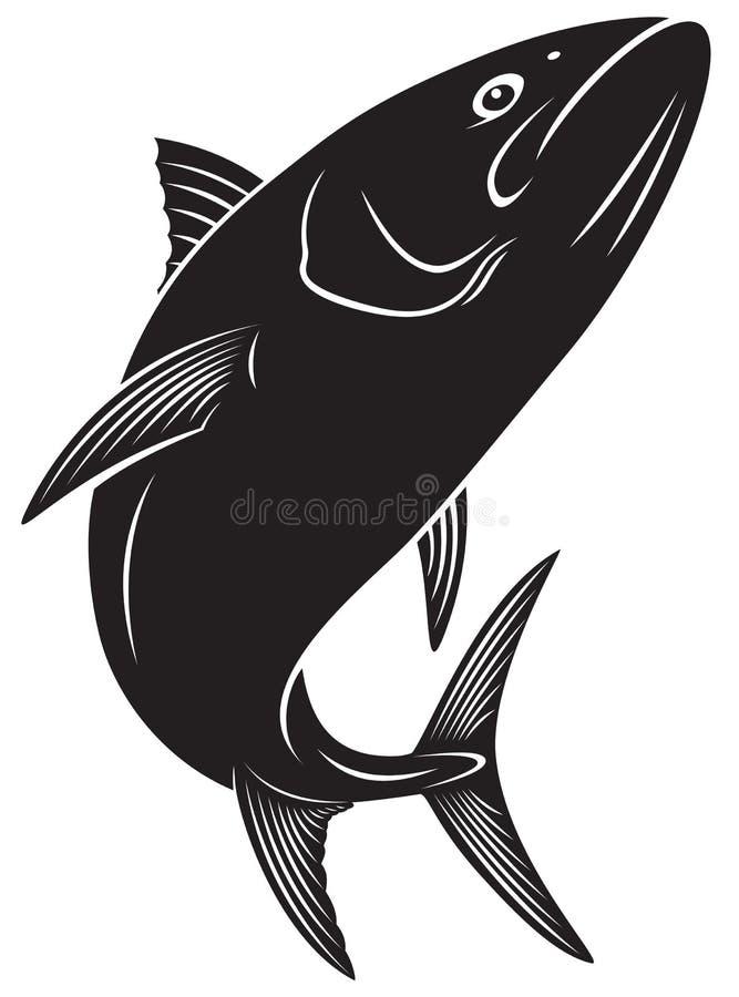 Ψάρια τόνου διανυσματική απεικόνιση