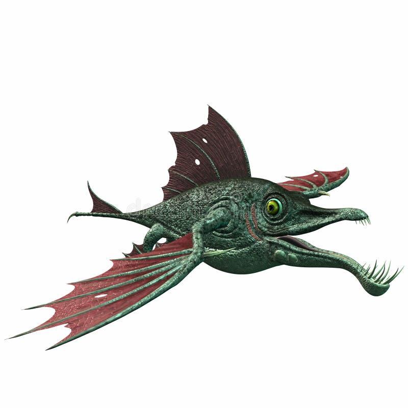 ψάρια φαντασίας δράκων ελεύθερη απεικόνιση δικαιώματος