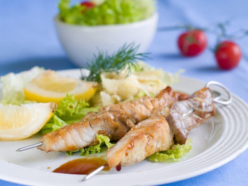 ψάρια kebabs στοκ φωτογραφίες με δικαίωμα ελεύθερης χρήσης