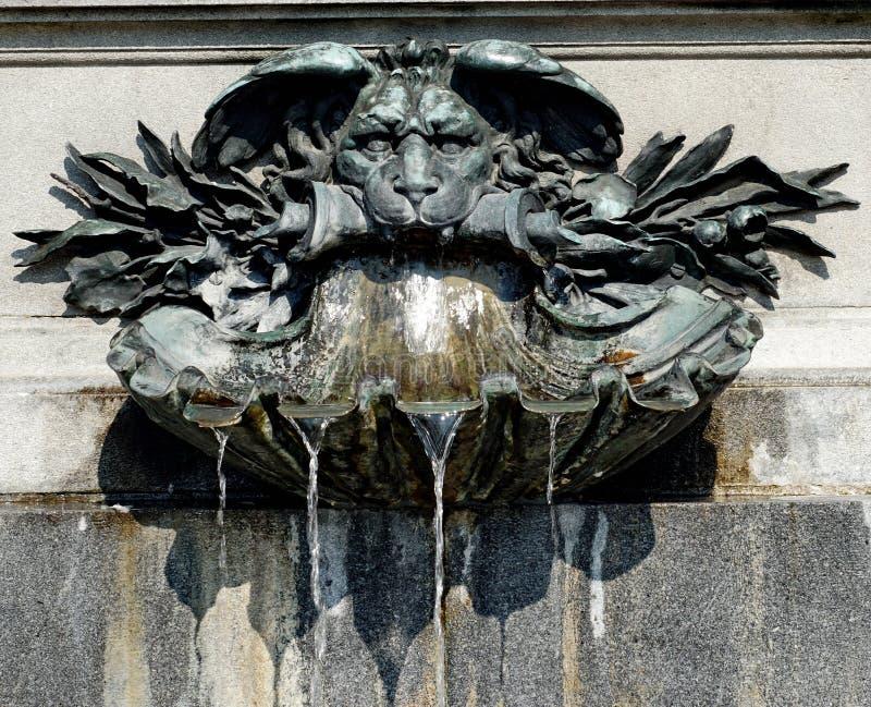 Ψέκασμα του νερού μιας πηγής με το lionhead στοκ φωτογραφίες με δικαίωμα ελεύθερης χρήσης