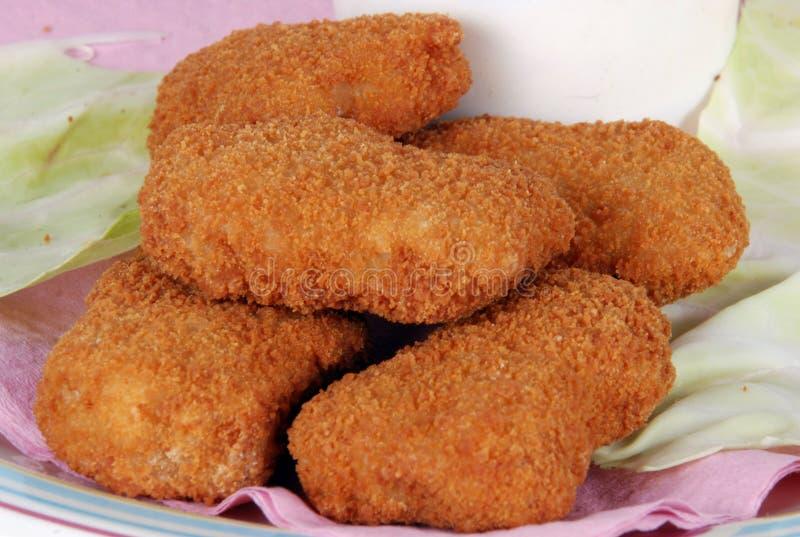 ψήγματα κοτόπουλου στοκ εικόνα