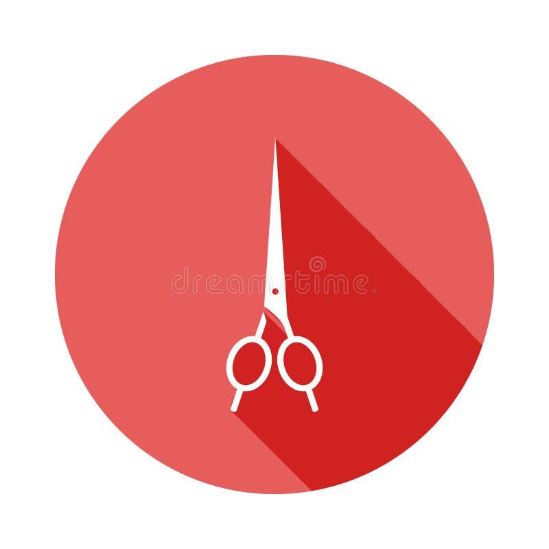ψαλίδι για ένα επίπεδο εικονίδιο σκιών hairstyle μακροχρόνιο Στοιχείο του εικονιδίου κουρέων για την κινητούς έννοια και τον Ιστό απεικόνιση αποθεμάτων