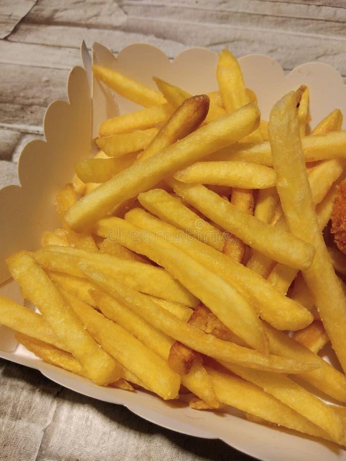 ψαλιδίζοντας απομονωμένο εικόνα μονοπάτι τηγανιτών πατατών στοκ φωτογραφίες με δικαίωμα ελεύθερης χρήσης