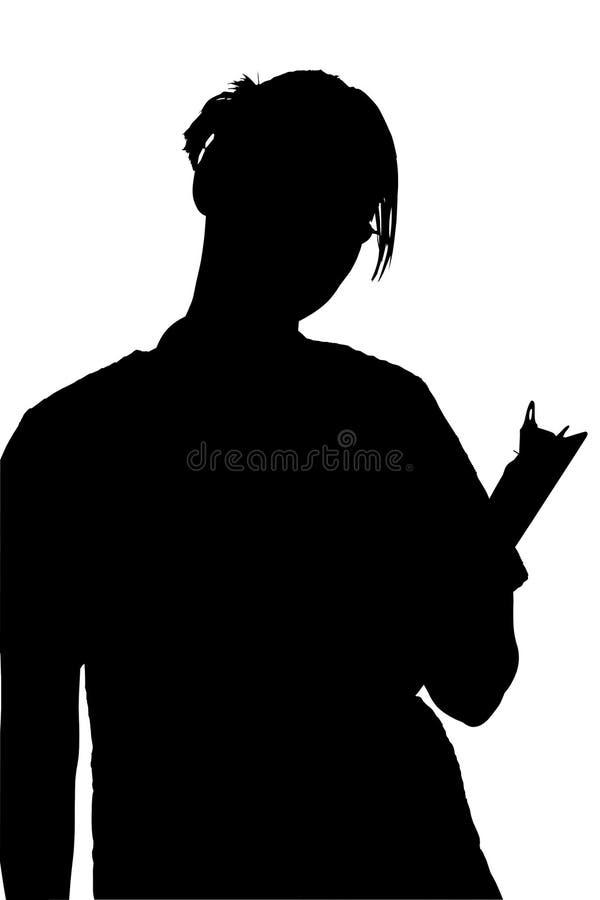 ψαλιδίζοντας γυναίκα σκιαγραφιών μονοπατιών περιοχών αποκομμάτων απεικόνιση αποθεμάτων