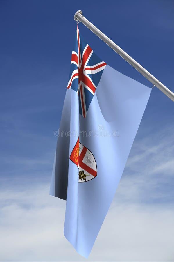 ψαλιδίζοντας μονοπάτι σημαιών των Φίτζι στοκ φωτογραφίες με δικαίωμα ελεύθερης χρήσης