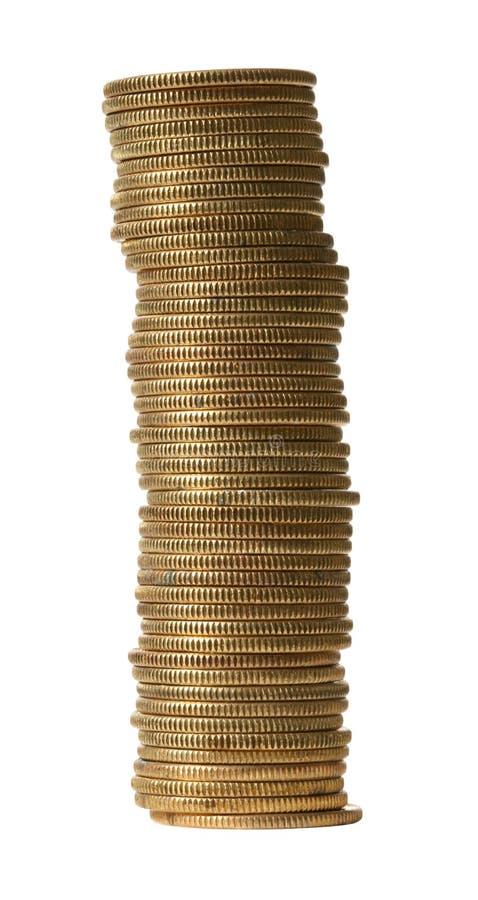ψαλιδίζοντας χρυσό μονοπάτι νομισμάτων στοκ εικόνες