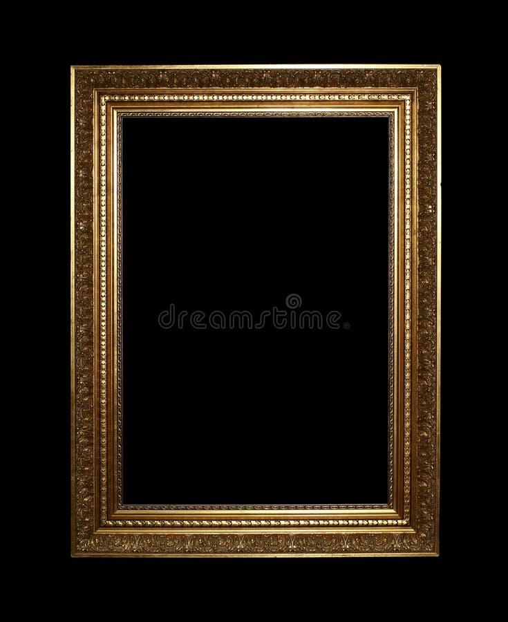 ψαλιδίζοντας χρυσό μονοπάτι πλαισίων στοκ εικόνες