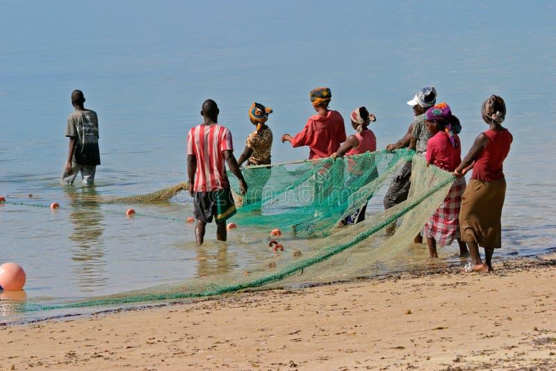 ψαράδες της Μοζαμβίκης Μ&omicr στοκ φωτογραφία