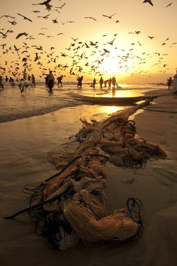 ψαράδες omani στοκ εικόνες