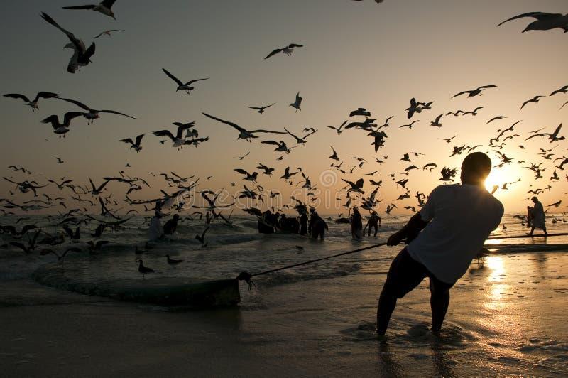 ψαράδες omani στοκ φωτογραφία