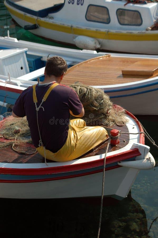 ψαράς βαρκών στοκ εικόνα