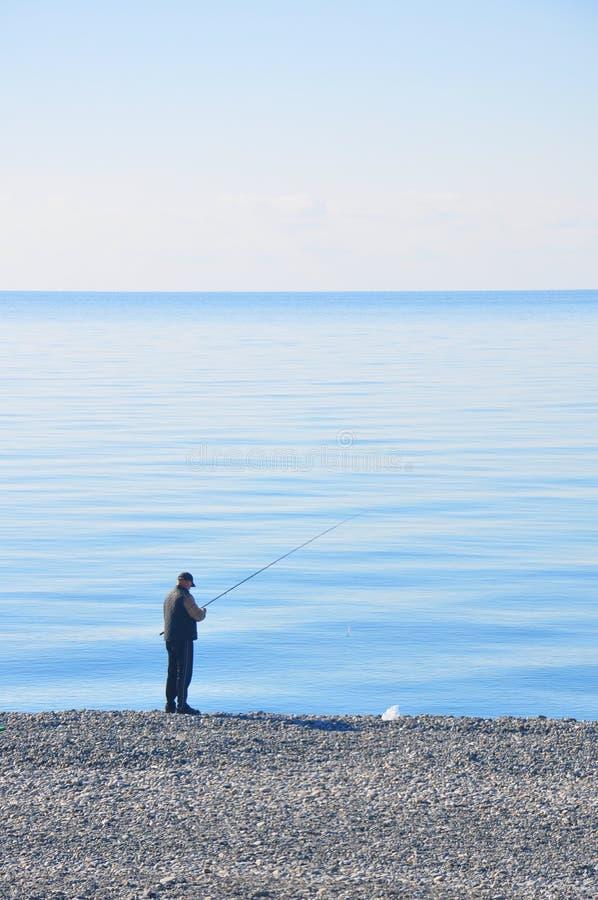 Ψαράς θαλασσίως στοκ εικόνες