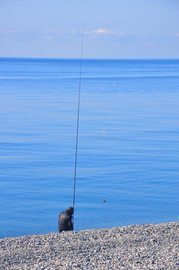 Ψαράς θαλασσίως στοκ φωτογραφίες με δικαίωμα ελεύθερης χρήσης