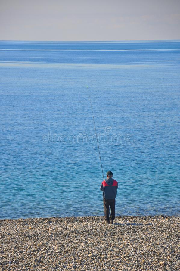 Ψαράς θαλασσίως στοκ φωτογραφία με δικαίωμα ελεύθερης χρήσης