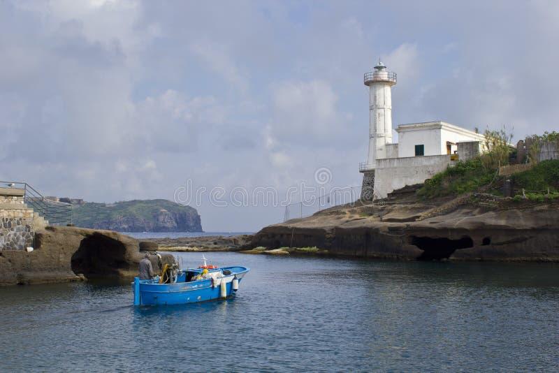 Ψαράς στο ventotene στοκ εικόνες με δικαίωμα ελεύθερης χρήσης