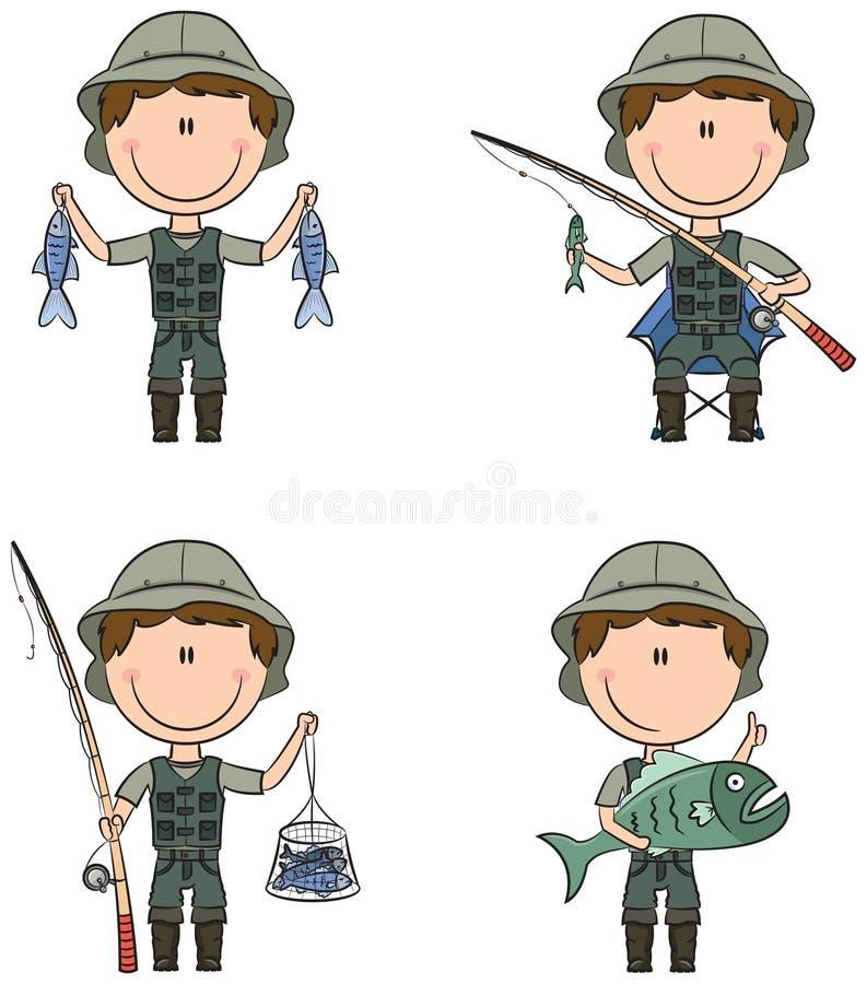 Ψαράς διανυσματική απεικόνιση