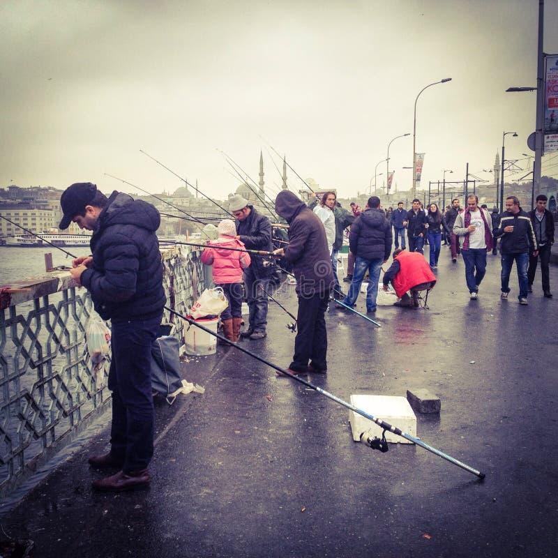 Ψαράδες στη δράση στοκ φωτογραφίες με δικαίωμα ελεύθερης χρήσης