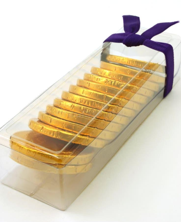 ψαρευμένο χρυσό πακέτο δώρ& στοκ φωτογραφίες με δικαίωμα ελεύθερης χρήσης